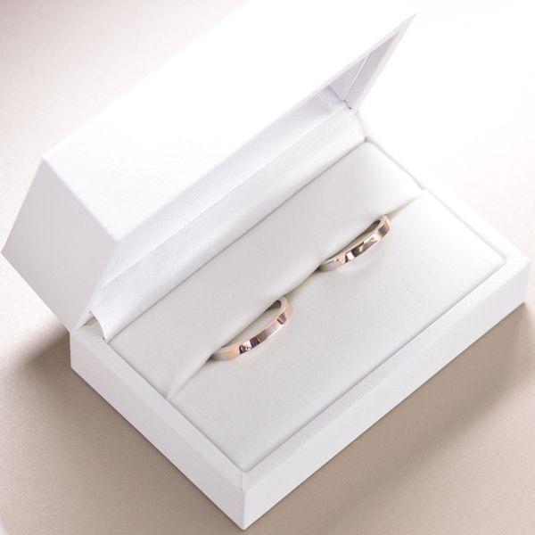 結婚指輪 マリッジリング プラチナ ピンクゴールド ペアリング メンズ ananya/
