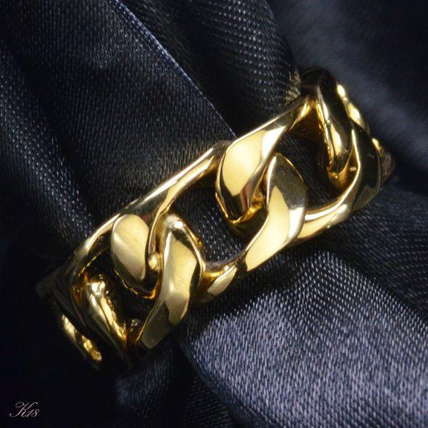 喜平 リング K18 18金 イエローゴールド メンズ