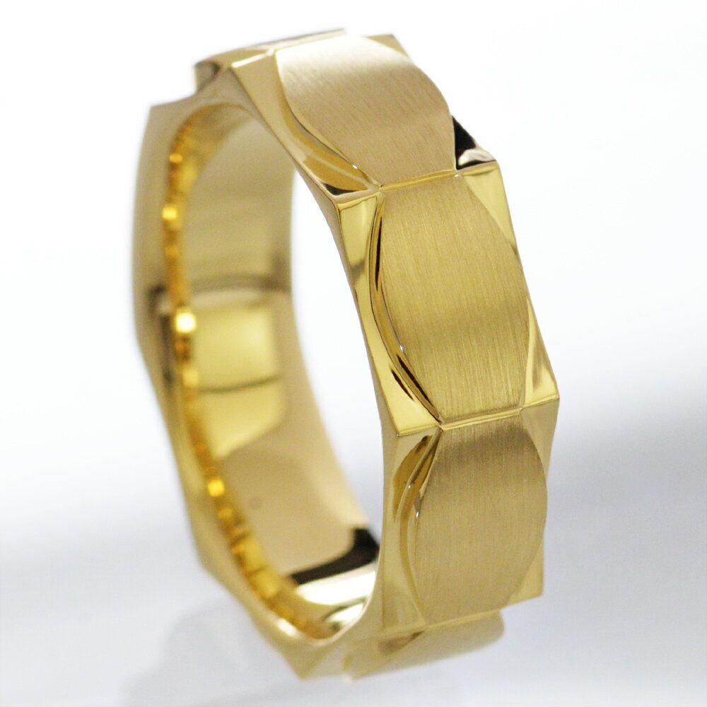 メンズリング 18金 指輪 K18 男性用 日本製