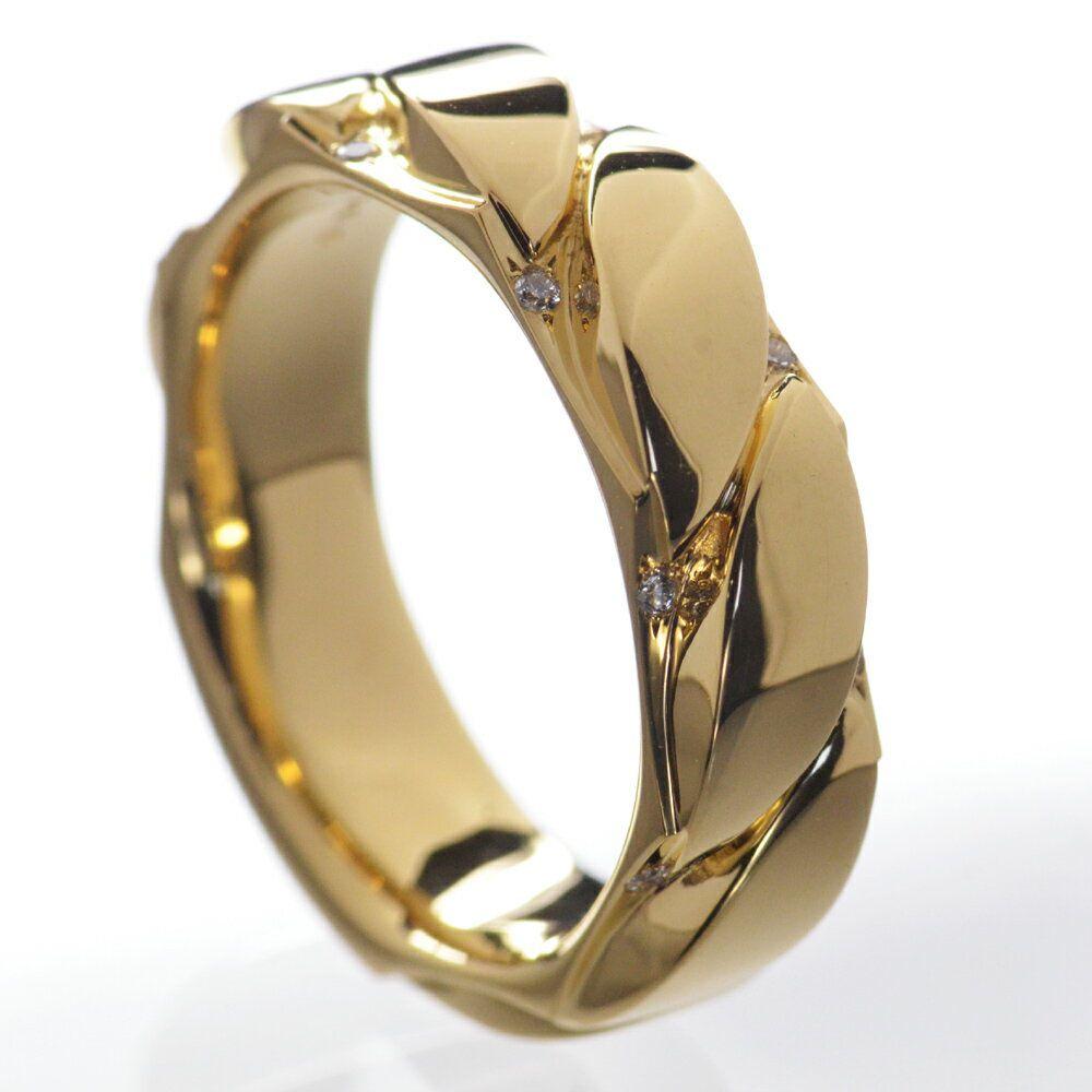 即納 K18 ダイヤモンド メンズリング 18号 撮影サンプル品 1点限り 特価/送料無料【あす楽対応】