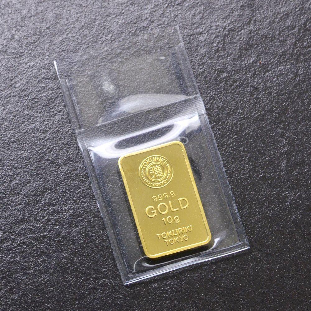 即納 インゴット 純金 K24 10g ゴールドバー INGOT 徳力/送料無料