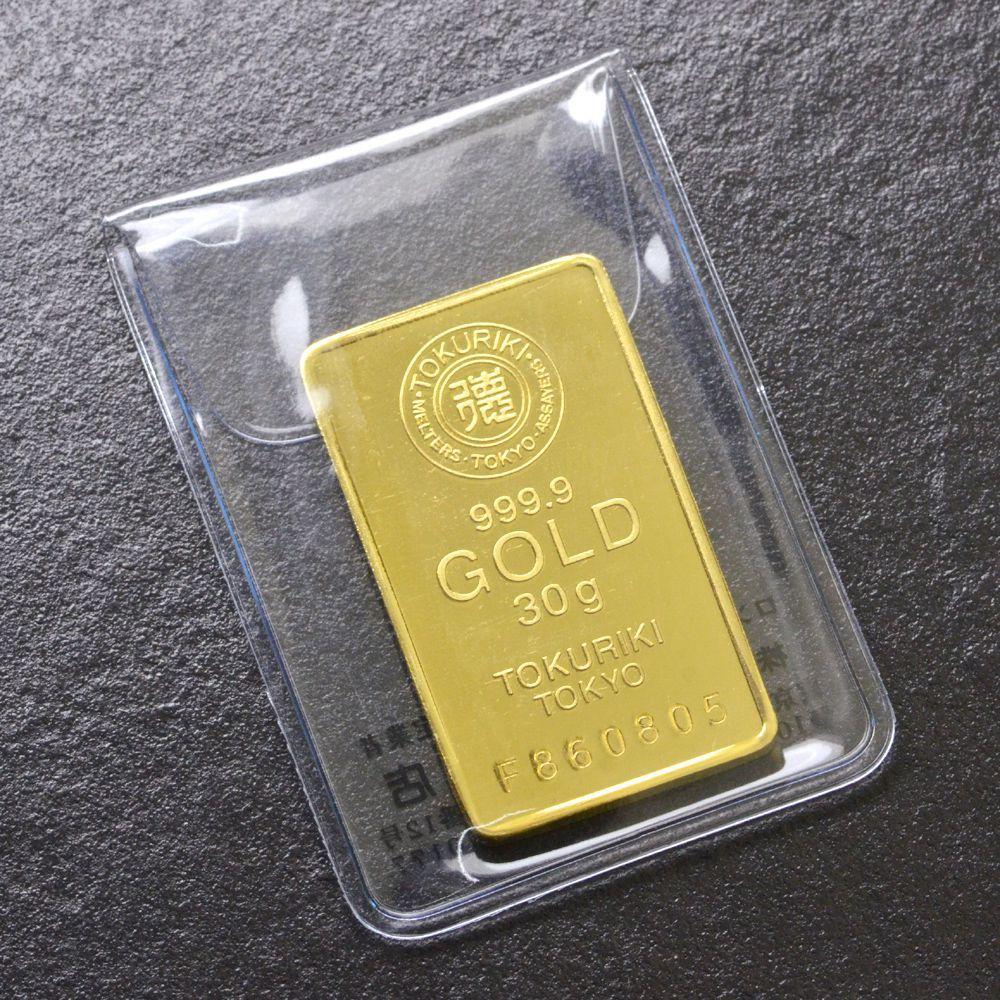 即納 インゴット 純金 K24 30g ゴールドバー INGOT 徳力/送料無料