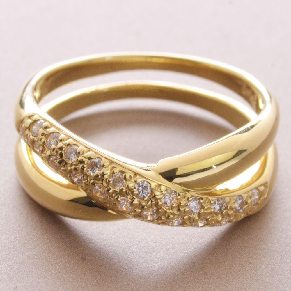 K18 H&C ダイヤモンド リング/送料無料