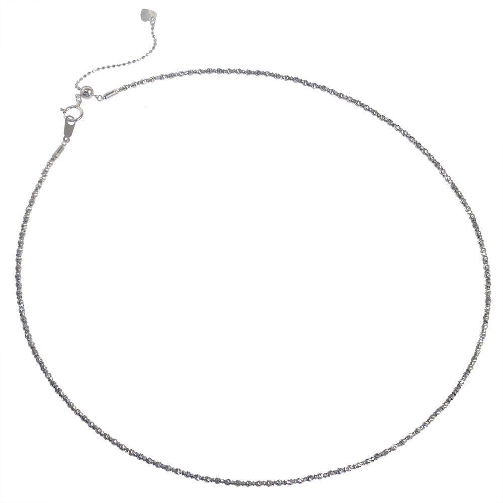 K18WG オメガネックレス ミラーボール 45cm/送料無料