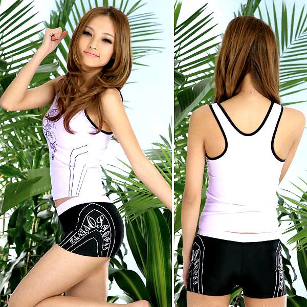 UVカット フィットネス水着 七分袖 紫外線防止 レディース 水着 日焼け防止 カラー フィットネスウェア