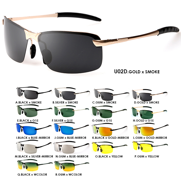 Polarized Sunglasses all 18 color all weather capable mens Womens 10303 + u02 metal frame green ...