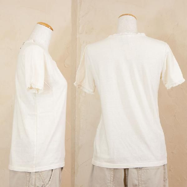 days days neck lace short sleeves shirt Japan made
