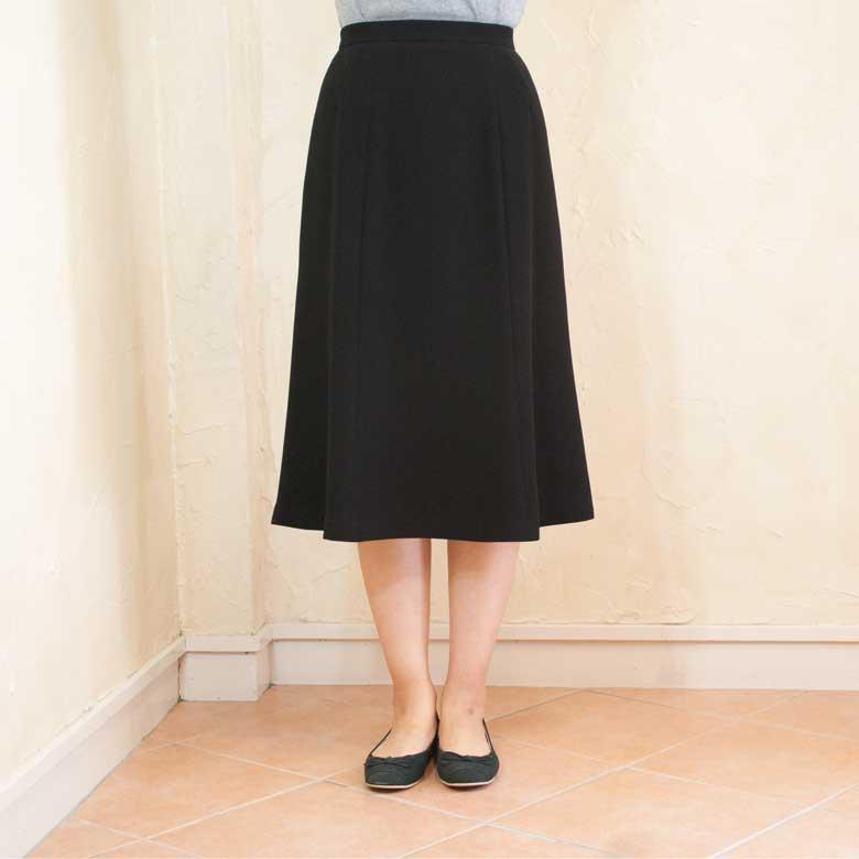 ブラックフォーマル単品スカート7枚ハギ日本製 1220
