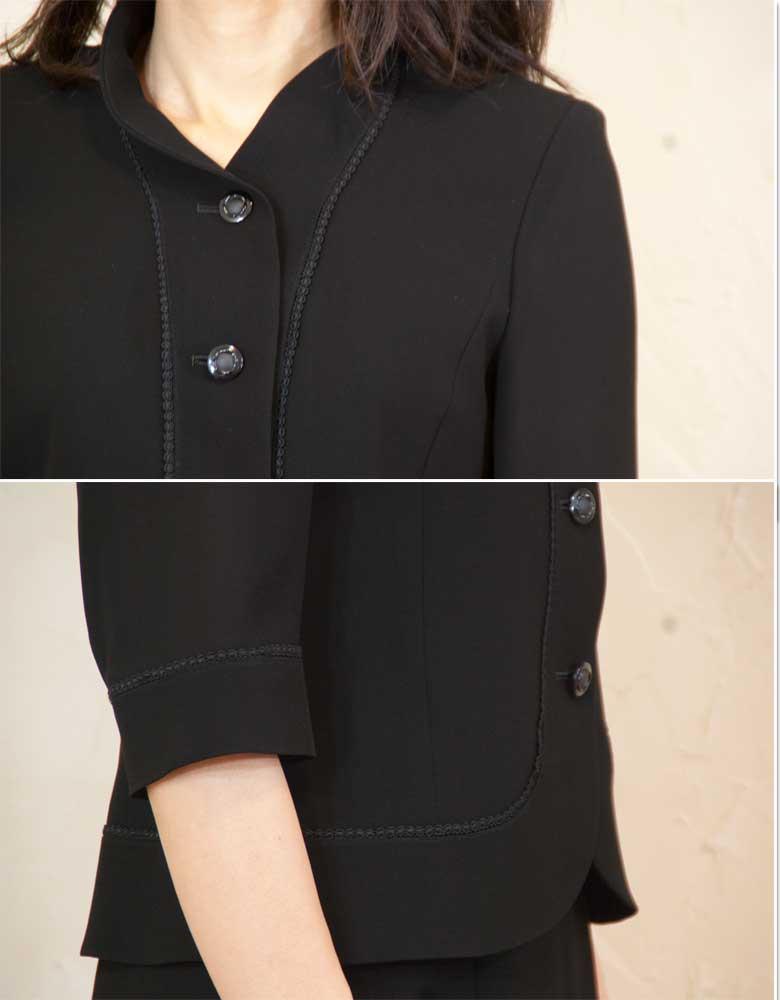 Summer black formal stand color suits for summer Japan-5044