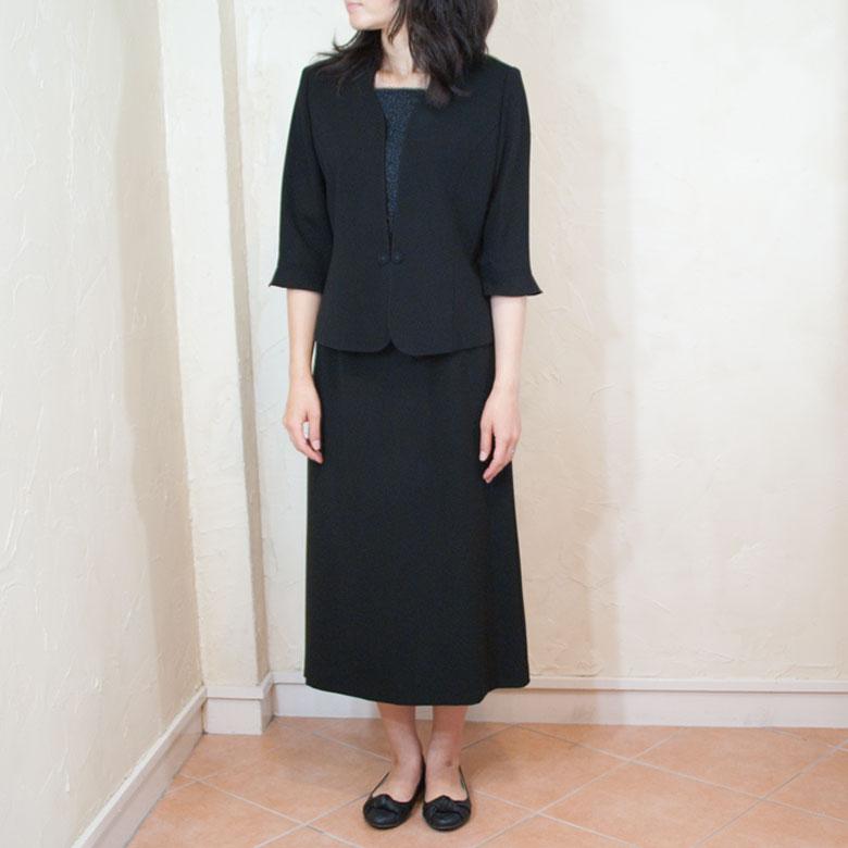 日本製 繊維の町岐阜の熟練の職人達の丁寧なものづくり サマーブラッククフオーマ喪服ルバッグセットスーツ なつもの胸当て付き 定番キャンバス 5048 保証