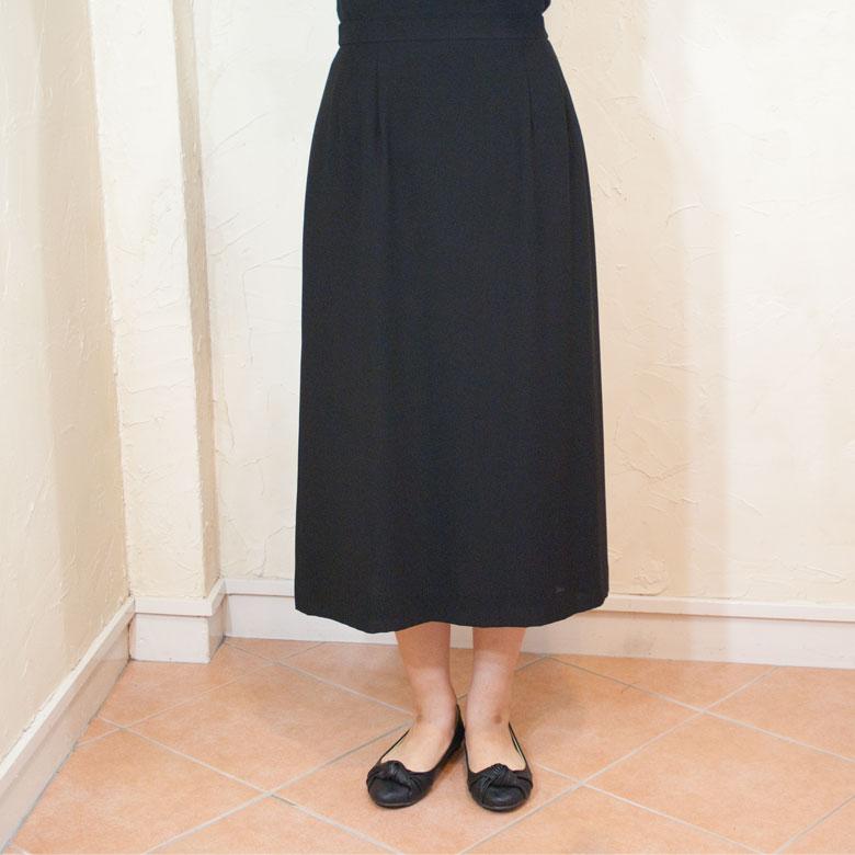 サマーブラッククフオーマルバッグセットAラインスカート夏用 日本製単品