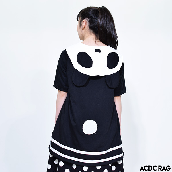1b8a5058 [short sleeves] individual big size animal animal ACDC RAG which fashion  Lady's sailor dress ...