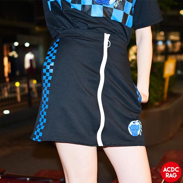 ストリートなチェック柄と刺繍入りのタイトスカート スカート 原宿系 韓国 ファッション レディース 毎日続々入荷 刺繍 派手カワ ストリート パンク ロック 病みかわいい アップルチェックタイトスカート ヒップホップ 個性的 チェック ダンス ACDC ガールズ メール便可 派手 衣装 RAG かわいい ミニスカート 日本最大級の品揃え