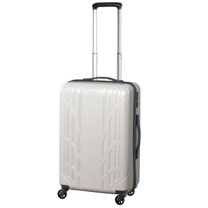 スーツケース 便利な キャスターストッパー エース ワールドトラベラー World Traveler ナヴァイオ 送料無料 ポイント10倍  3~4泊用 45リットル キャリーバッグ キャリーケース 06152