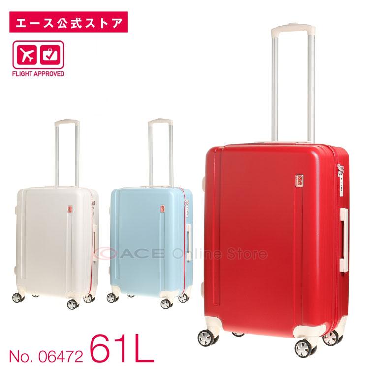 スーツケース Mサイズ エース FLIGHT APPROVED/ハンティントン 61リットル ファスナータイプ キャリーバッグ キャリーケース 06472