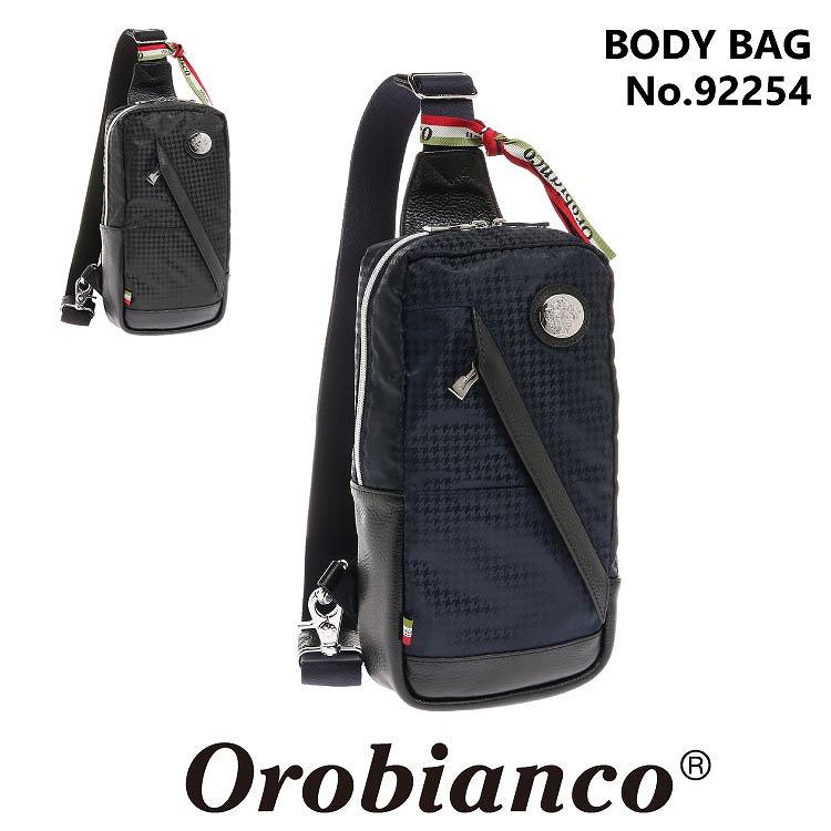 オロビアンコ ボディバッグ Orobianco メンズ カジュアル ワンショルダーバッグ 斜め掛け サブバッグ 千鳥格子 正規品 TRAVERSO DIDAL 92254