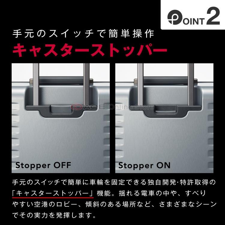 スーツケース Mサイズ フレーム プロテカ PROTECA ブリックロック 65リットル3年保証付きマグネシウム合金フレqzGSMUpV