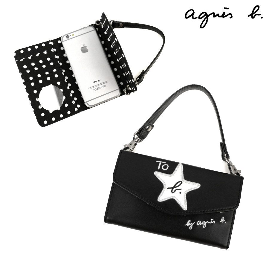 Aceweb an agnis b. iphone case notebook type [4536wn23] (to b.agnes b.) [agnes  b]★☆
