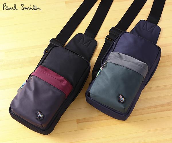 Paul Smith ポールスミス メンズ ラッピング無料 正規品 カラーブロックゼブラ ギフト 割引も実施中 ボディバッグ 出群 ショルダー BMB071 ☆ あす楽 バッグ