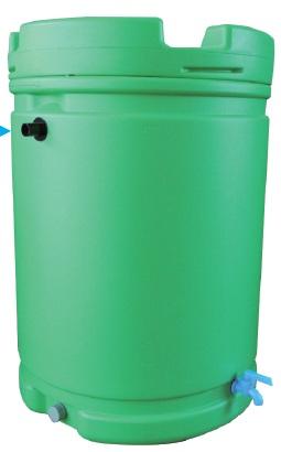 雨水タンク 185L 緑【送料無料】【個人宅への配達はできません。】