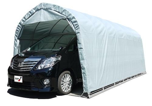 :(南栄工業)パイプ車庫 3256BGR 大型BOX車用(角パイプベース式)【個人宅への配達になります。】【パイプ車庫 南栄工業 ナンエイ 南栄工業 車庫 ガレージ ガレージ車庫】雨、風、ホコリから愛車を守ります。 【決算処分価格】