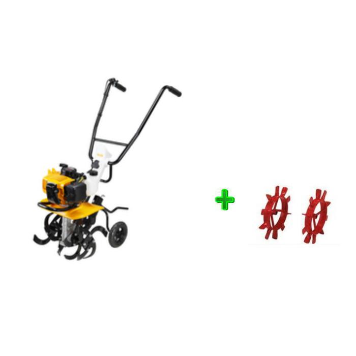 RYOBI(リョービ)エンジンカルチベータ(RCVK-4300)(耕運機) +中耕車輪 【中耕作業に!】【送料無料】【リョービ RYOBI  耕運機 エンジン式耕運機】 05P03Dec16