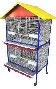 鳥かご 大型バードゲージ【送料無料】【代金引換不可】 【オウム インコ 大型鳥かご】【決算処分価格】