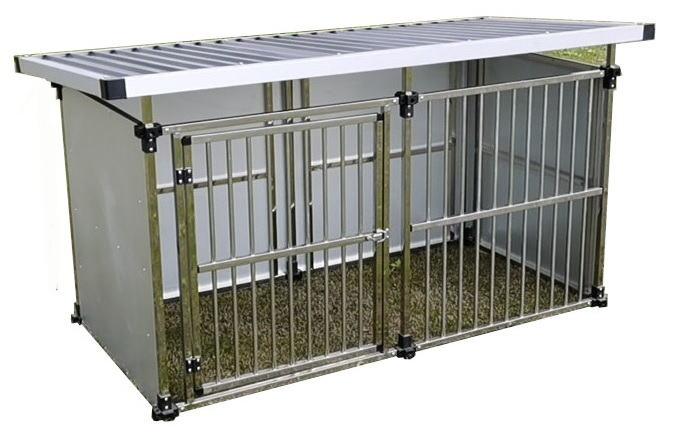 ドッグハウス ステンレス製マルチ犬舎 DFS-M1(0.5坪タイプ)【会社等と西濃運輸の営業所止めに配達です。個人宅へは配達はできません。】【送料無料】【代金引換不可】