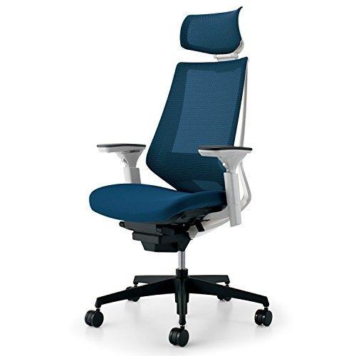 組立サービス付きオフィス家具 値下げ コクヨ品番 cr-g3035e1kzt6-w 組立無料 コクヨ デュオラ 在庫処分 イス オフィスチェア プルシアンブルー シンプルデザイン多機能チェア ヘッドレスト メッシュ CR-G3035E1KZT6-W 事務椅子 デスクチェア