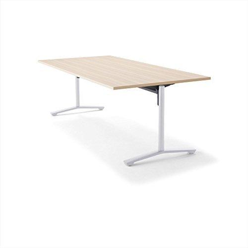 【組立無料】 コクヨ ミーティングテーブル DAYS OFFICE flip top XY-TFT211FSAAMC0 幅210×奥行100cm 天板ホワイトナチュラル/脚ホワイト