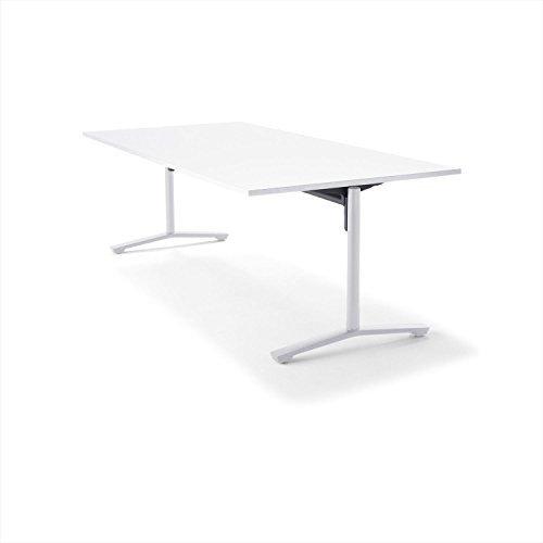 【組立無料】 コクヨ ミーティングテーブル DAYS OFFICE flip top XY-TFT211FSAAMCW 幅210×奥行100cm 天板グレインドホワイト/脚ホワイト