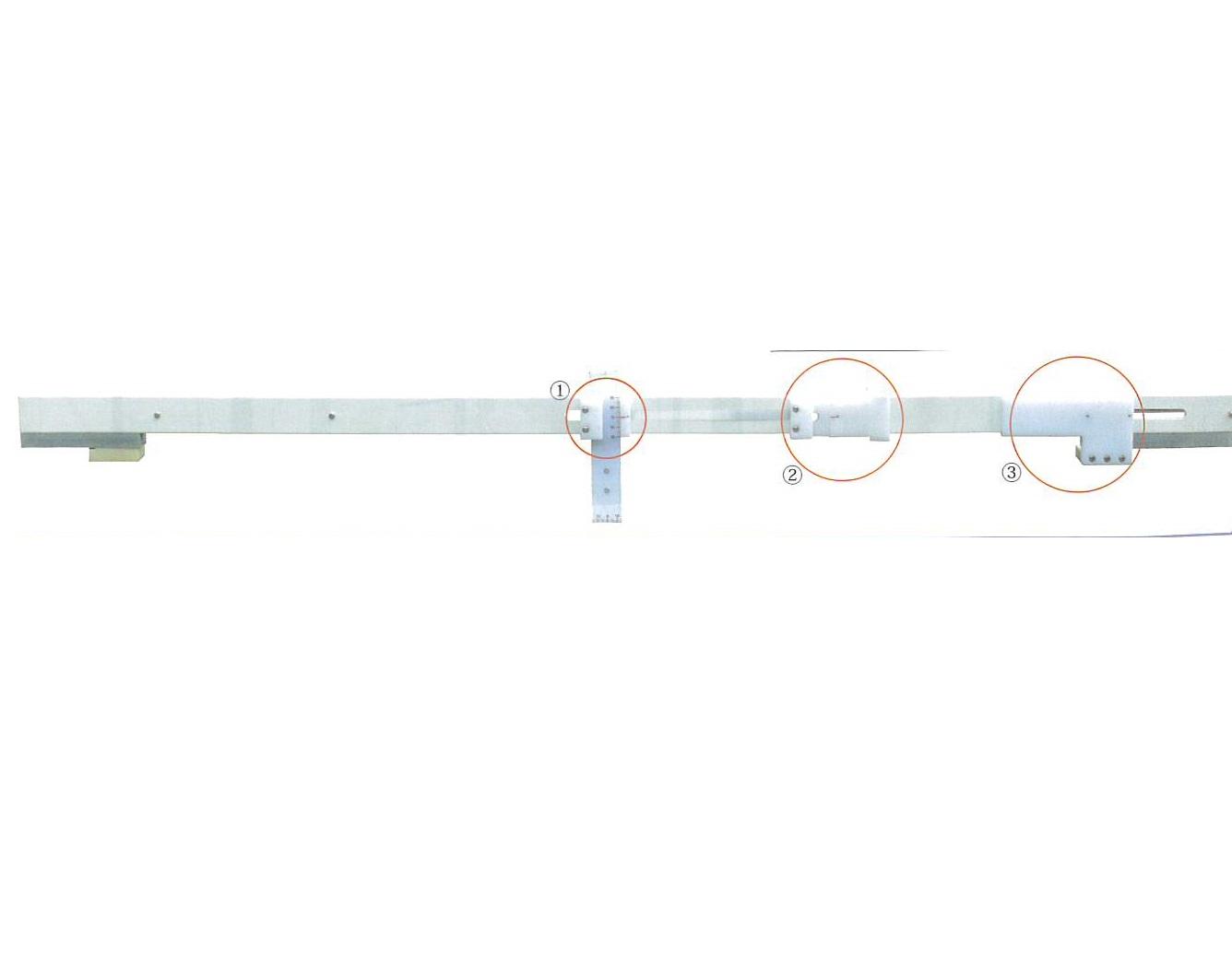 宣真工業 鉄道シリーズ 地上子設置位置測定器 100%品質保証 TD10-1435-16 付与 全長1.6m P形