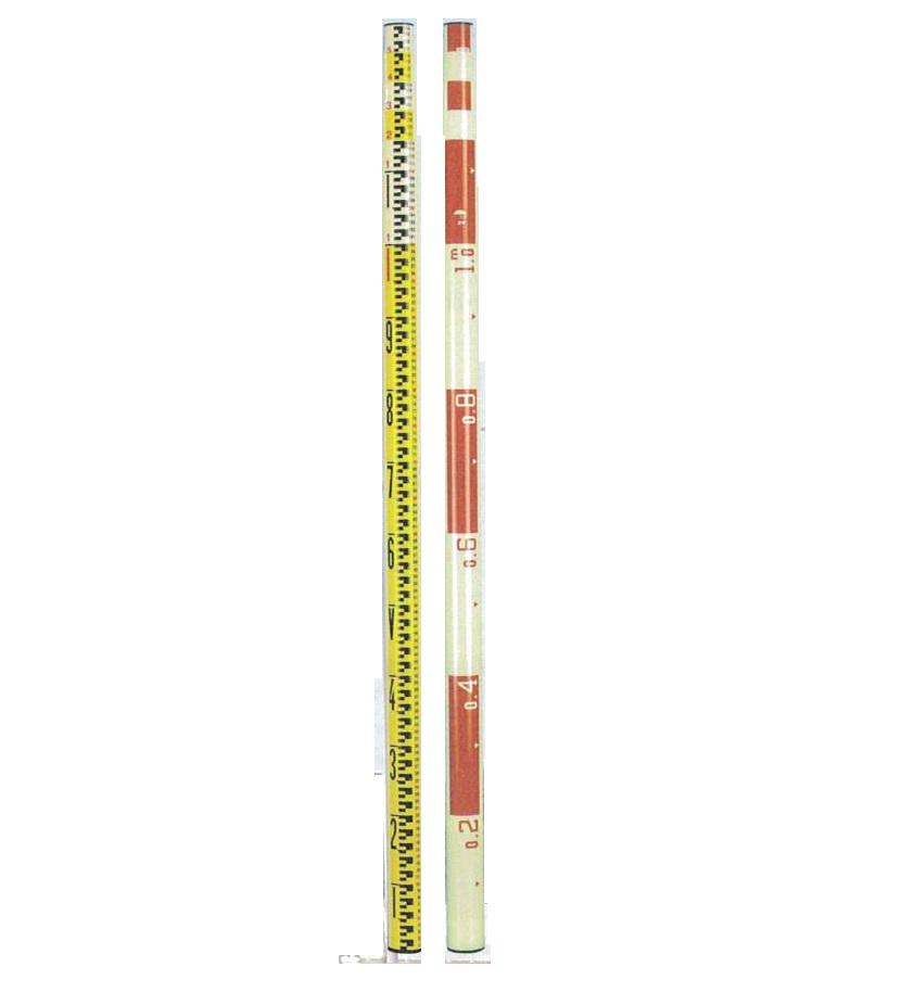 宣真工業 測量シリーズ グラスファイバースタッフ 205-5 全長5m   外壁測量工具
