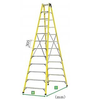 宣真工業 絶縁専用脚立 売れ筋 ご予約品 SL27S 脚立の高さ2.56m 個人宅配不可商品