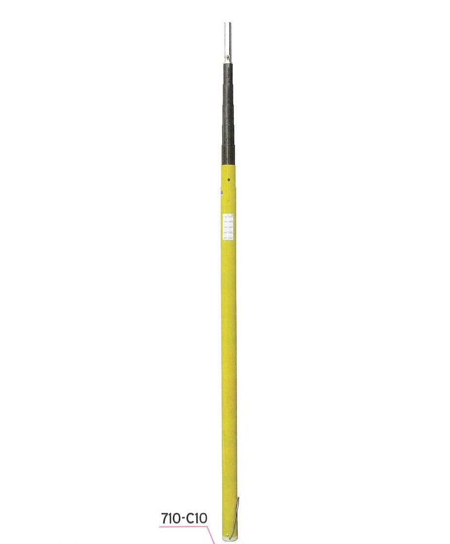 宣真工業 測量シリーズ アンテナポール 710-C10 全長10m