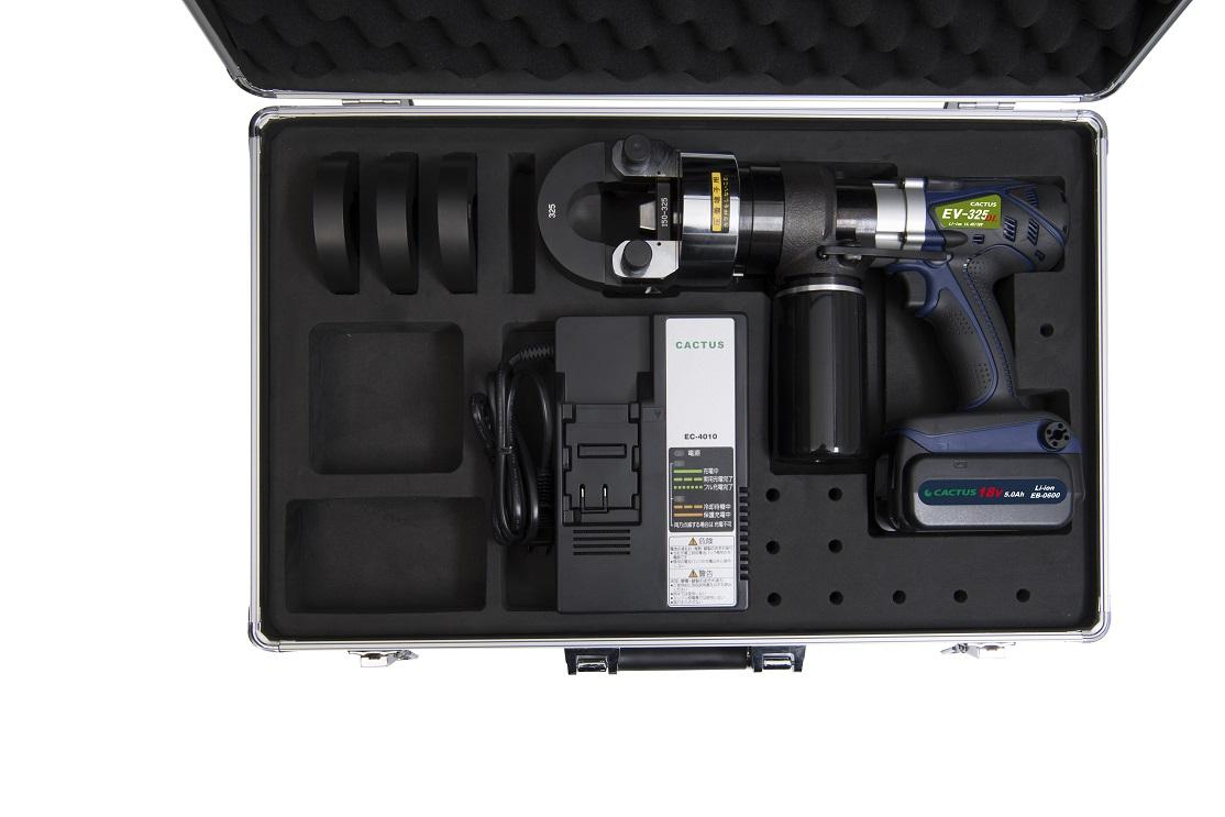 カクタス(CACTUS)リチウムイオン電池式圧着工具 EV-325DL 用アルミ収納ケース(中身別売り)