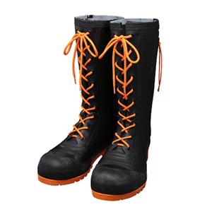 シバタ工業 SHIBATA AB110 安全編上長靴 HSS-001 各サイズ  ブラック/オレンジ