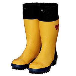 シバタ工業 SHIBATA 舗 AB071 安全長靴 各サイズ セーフティベアー#500 イエロー 新作通販