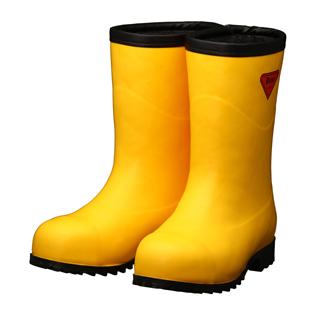 シバタ工業 SHIBATA 安全防寒長靴 AC101 セーフティベアー#1011白熊(イエロー)(フード無し)  各サイズ