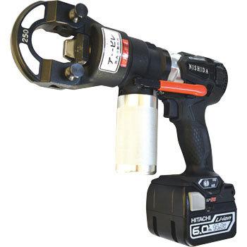 【セール】 西田製作所  充電式油圧ポンプ NC-AMA200J アービレ黒+端子圧着ヘッドセット:エース工具-DIY・工具
