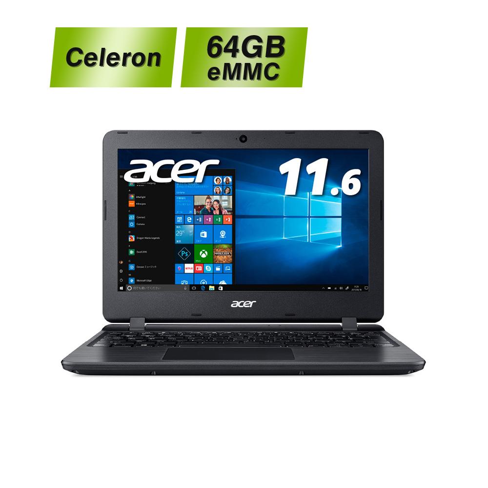 【使いやすいエントリーモデル!】Acer ノートパソコン Aspire1 A111-31-A14PA Celeron N4000 4GB 64GB 11.6型 Windows10 Home(Smode) エイサー ノート ノートブック ノートPC