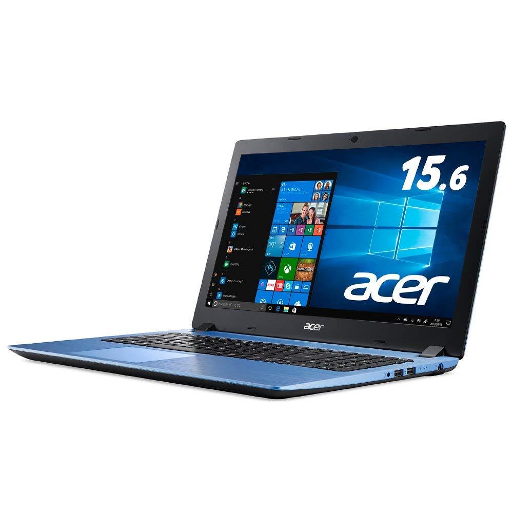 Acer ノートパソコンAspire 3 A315-32-N14U/BF (Microsoft Office付き/Celeron/4GB/256GB SSD/ドライブなし/15.6型/Windows 10/Office H&B/ブルー) 新品 フルHD