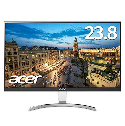 【WQHD対応のフレームレスモデル】Acer モニター ディスプレイ RC241YUsmidpx 23.8インチ IPS 非光沢 WQHD(2560 x 1440) フレームレス スピーカー内蔵 DVI-D(Dual Link対応) HDMI端子 DisplayPort パソコンモニター PCモニター 新品 送料無料