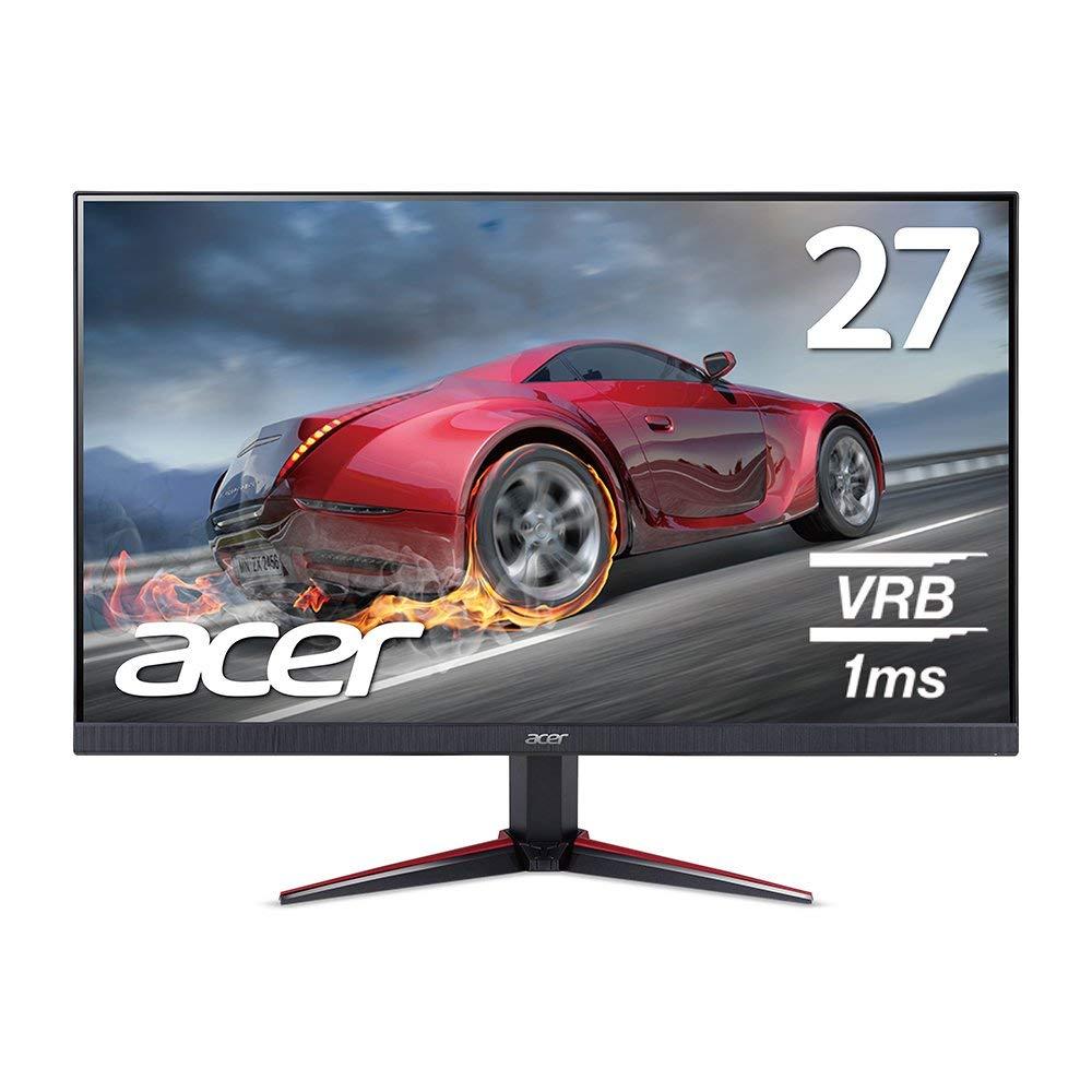 【高精細で美しい映像&動きの速いシーンも滑らかに!】ゲーミングモニター 1ms 75Hz IPS 非光沢 27インチ ゲーミングディスプレイ 250cd 1920×1080 16:9 ミニD-Sub 15ピン・HDMI 1.4 パソコン(PC)モニター ゲーム 新品 Acer エイサー VG270bmiix