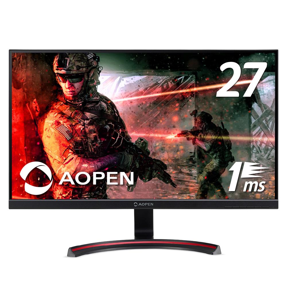 【家庭用ゲームにも最適!】AOPEN エーオープン ゲーミングモニター 1ms Free Sync フルHD フリッカーレス パソコン(PC)モニター ゲーミング ディスプレイ 27インチ MX1シリーズ 27MX1bmiix Acer エイサー PS4 FPS