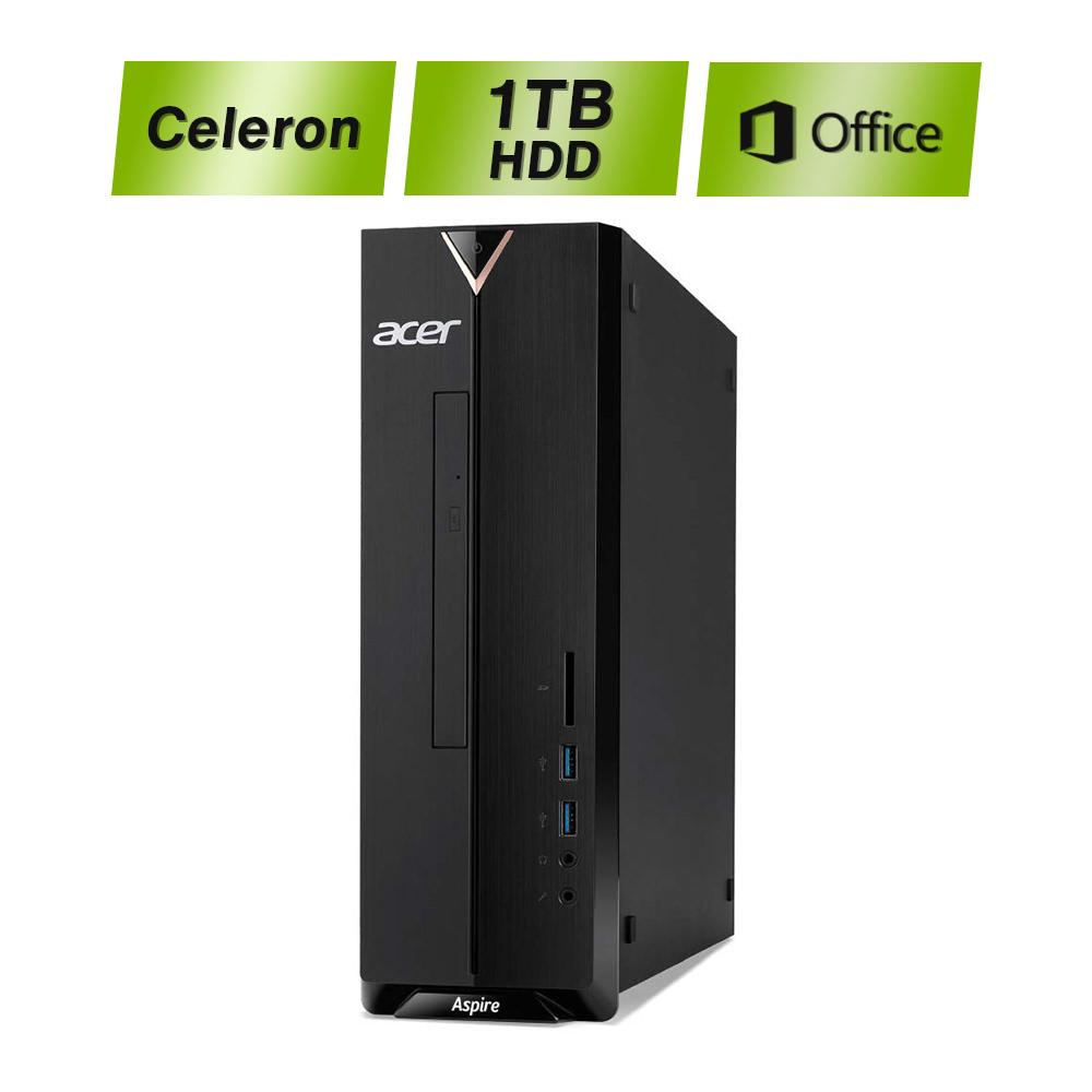 【幅わずか10cmのボディにOffice付!】エイサー Acer Office H&B 2019 8GB 1TB HDD Celeron J4005 デスクトップパソコン パソコン PC 新品 Windows10 Aspire XC-830-N18F/F 2.00GHz Intel UHD グラフィックス 600
