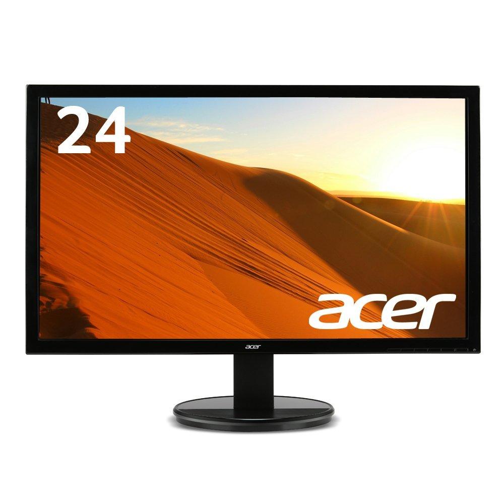 23.6型/ KG241Qbmiix 【ポイント5倍】 ゲーミングモニター HDMI入力x2/ ヘッドフォン端子 Acer ステレオスピーカー/ フルHD/1ms/