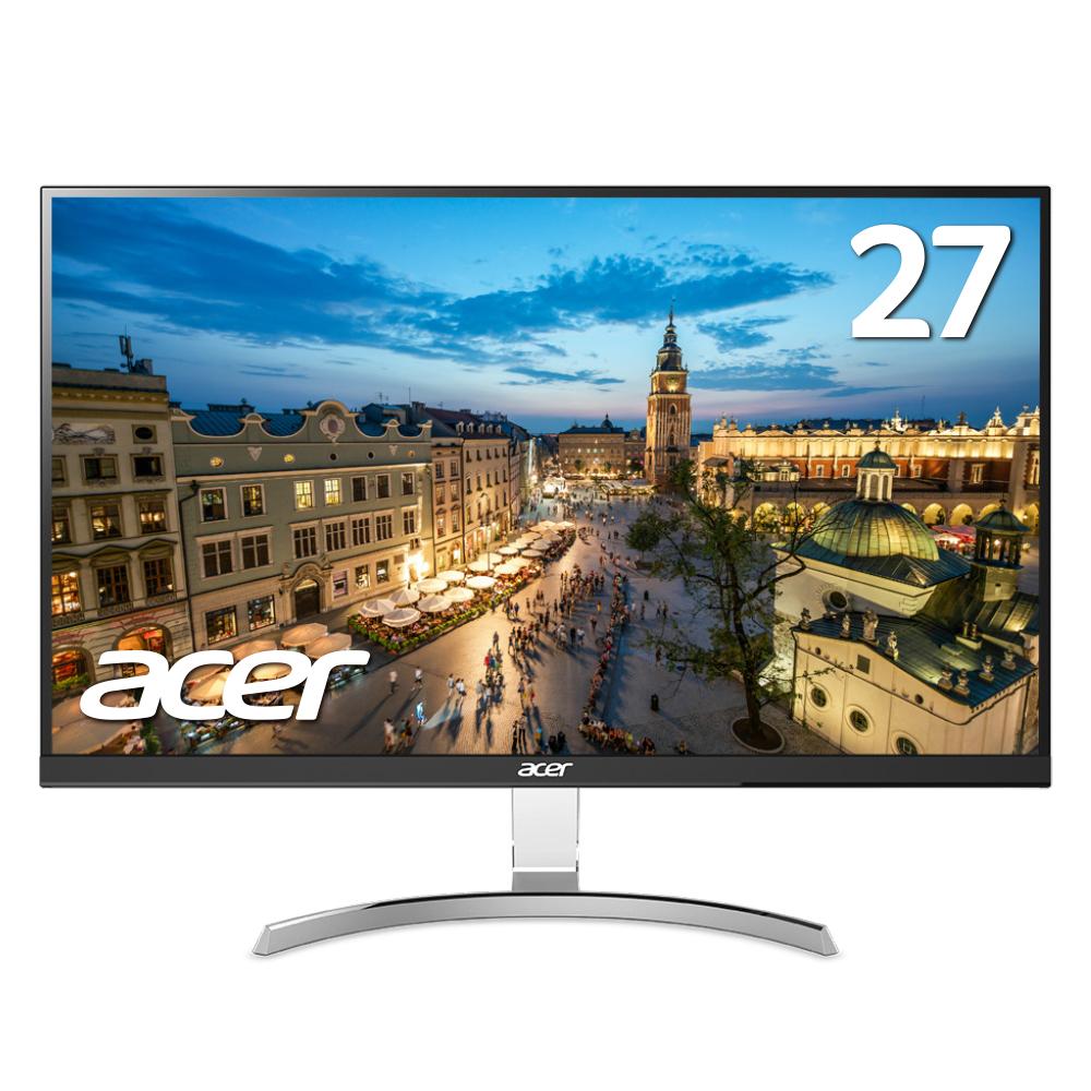 【WQHDの高解像度で画面広々!】エイサー Acer パソコンモニター RC271Usmidpx 27インチ WQHD(2560 x 1440) 非光沢 IPS スピーカー内蔵 フレームレス 4ms HDMI DisplayPort DVI-D入力対応 PCモニター PCディスプレイ 新品