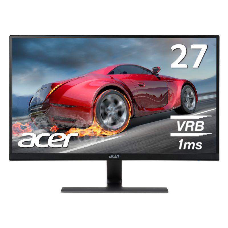【1ms・IPS・フレームレスの三拍子!】ゲーミングモニター Acer エイサー RG270bmiix 27インチ 応答速度1ms 250cd フルHD ゲーミングディスプレイ パソコン(PC)モニター IPS 非光沢 フレームレス 1920x1080 HDMI1.4×2 PS4 薄型 スピーカー内蔵 新品 FPS