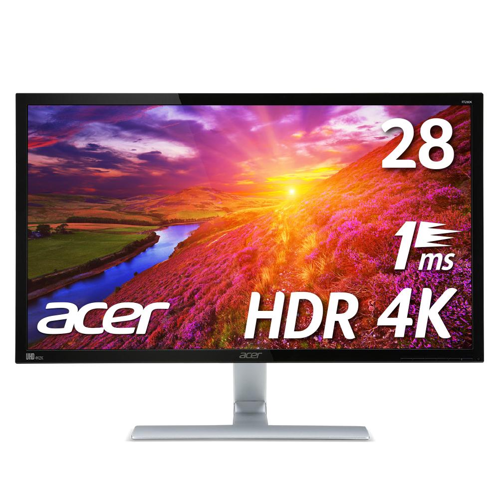在庫限りで値下~!【エントリーでポイント10倍】【4Kで1ms HDR10はこれ!PS4などのゲームに!】エイサー Acer 4Kゲーミングモニター RT280KAbmiipx 28インチ 非光沢 4K HDR TN 1ms HDMIx2 DP入力対応 PCモニター(新品)gaming2019